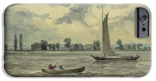 Schuylkill iPhone Cases - Old Quarantine Station circa 1857 iPhone Case by Aged Pixel