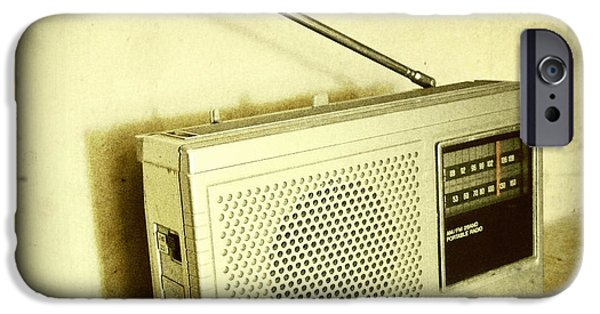 Electronics Photographs iPhone Cases - Old radio iPhone Case by Les Cunliffe
