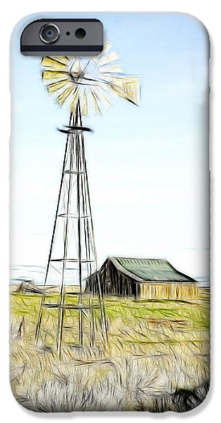 Old Ranch Windmill iPhone Case by Steve McKinzie