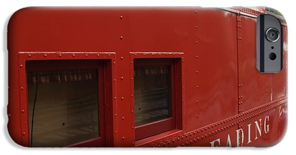 Caboose Photographs iPhone Cases - Old Reading RR Caboose in Lititz PA iPhone Case by Anna Lisa Yoder