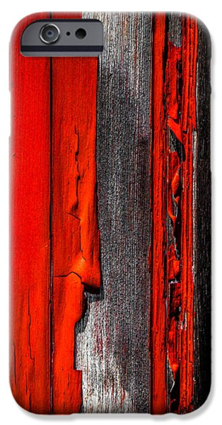 Old Barns iPhone Cases - Old Red Barn Four iPhone Case by Bob Orsillo