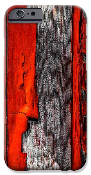 Old Red Barn One iPhone Case by Bob Orsillo