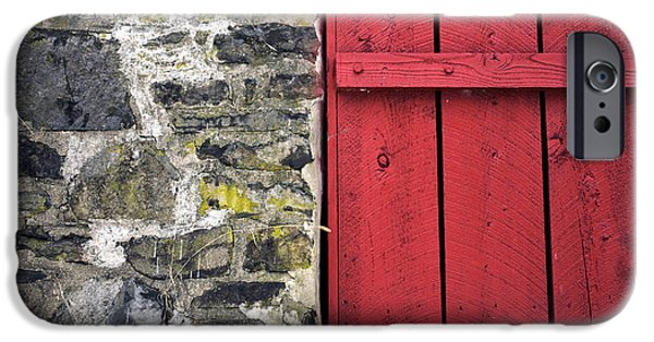 Old Barn Poster Photographs iPhone Cases - Old Red in Bucks County iPhone Case by John Rizzuto