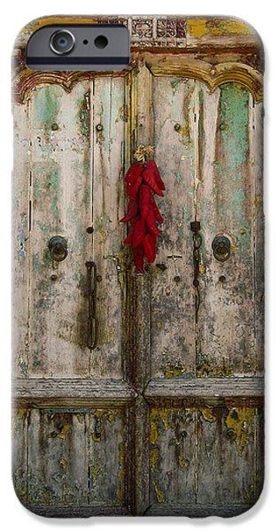 Old Ristra Door iPhone Case by Kurt Van Wagner