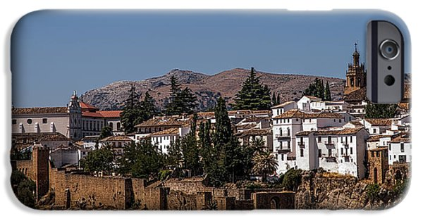 White House iPhone Cases - Old Ronda Panoramic. Andalusia. Spain iPhone Case by Jenny Rainbow