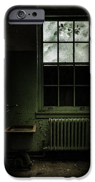 Old room - Abandoned Asylum - The presence outside iPhone Case by Gary Heller
