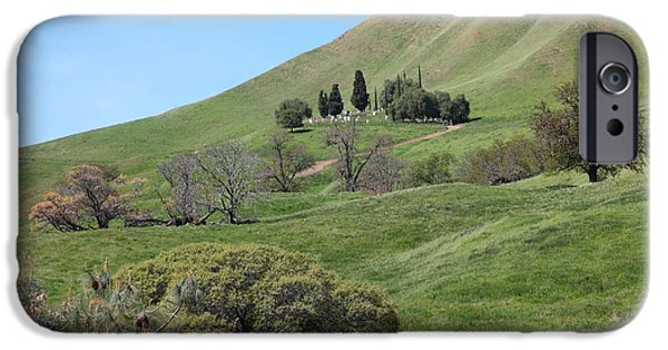 Cemetary iPhone Cases - Old Rose Hill Cemetery Atop The Rolling Hills Landscape of The Black Diamond Mines Calif 5D22281 iPhone Case by Wingsdomain Art and Photography