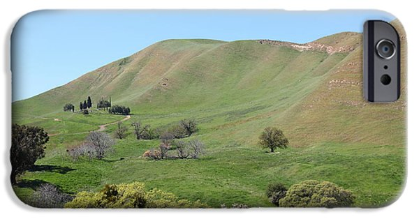 Cemetary iPhone Cases - Old Rose Hill Cemetery Atop The Rolling Hills Landscape of The Black Diamond Mines California 5D2232 iPhone Case by Wingsdomain Art and Photography