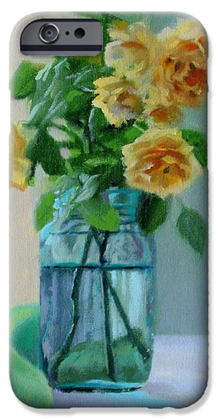 David iPhone Cases - Old Roses iPhone Case by Bonnie Mason