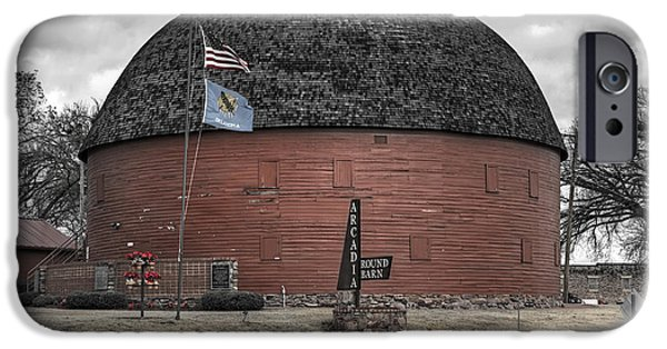 Old Barn Print Photographs iPhone Cases - Old Round Barn iPhone Case by Ricky Barnard