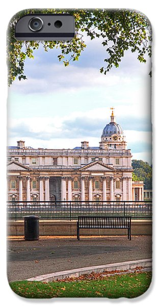 Naval College iPhone Cases - Old Royal Naval College Greenwich iPhone Case by Gill Billington