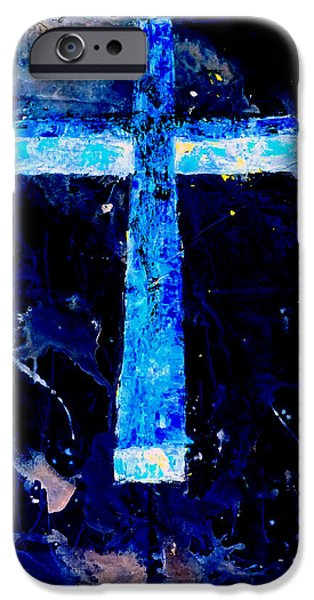 Pope Mixed Media iPhone Cases - Old Rugged Cross II iPhone Case by Giorgio Tuscani