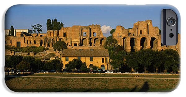 Ruin iPhone Cases - Old Ruins Of A Building, Roman Forum iPhone Case by Panoramic Images