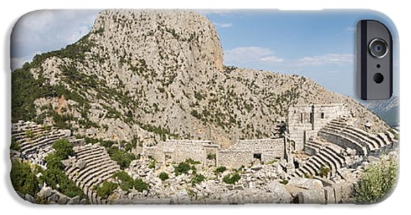Archaeology iPhone Cases - Old Ruins Of An Amphitheater iPhone Case by Panoramic Images