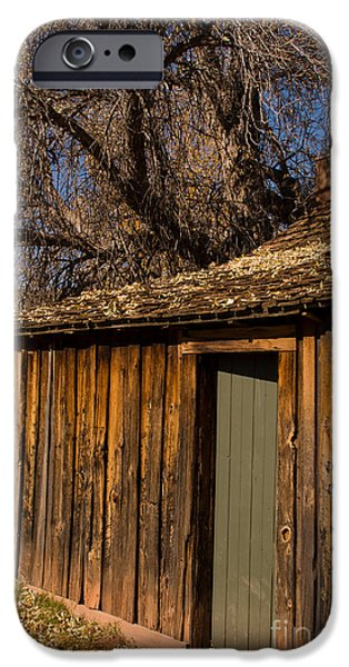 Bob Ross Photographs iPhone Cases - Old Rustic Cabin Grafton Ghost Town Rockville Utah iPhone Case by Robert Ford