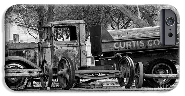 Delivery Truck iPhone Cases - Old Rusty Coal Delivery Truck  iPhone Case by Gary Whitton