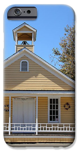 Old Sacramento California Schoolhouse 5D25541 iPhone Case by Wingsdomain Art and Photography