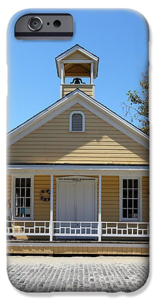 Old Sacramento California Schoolhouse 5D25543 iPhone Case by Wingsdomain Art and Photography