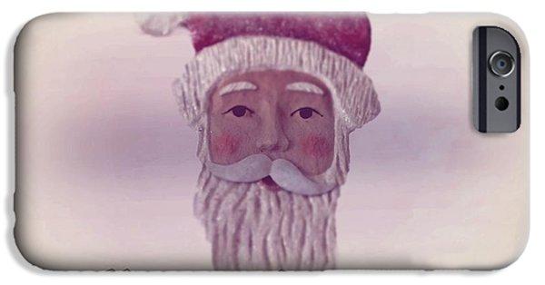 Christmas Eve Digital Art iPhone Cases - Old Saint Nicholas Greeting Card iPhone Case by David Dehner