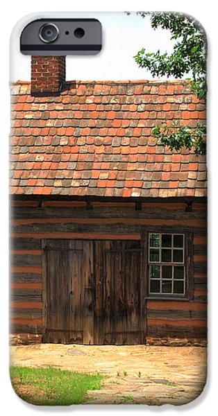 Old Salem Cottage iPhone Case by Frank Romeo