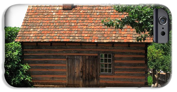 Old Barn Poster Photographs iPhone Cases - Winston-Salem NC - Old Salem Cottage iPhone Case by Frank Romeo