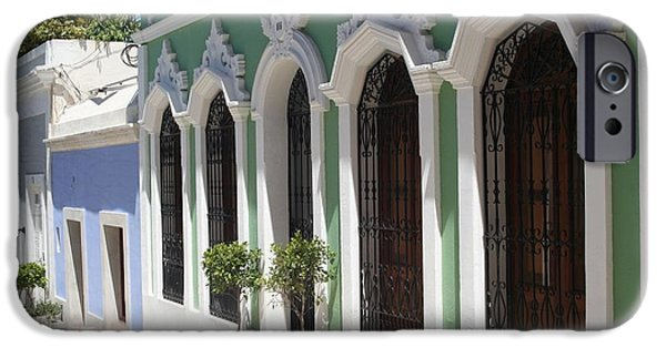 Nineteenth iPhone Cases - Old San Juan Street iPhone Case by The Art of Alice Terrill
