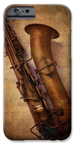 Concept Photographs iPhone Cases - Old Sax iPhone Case by Garry Gay