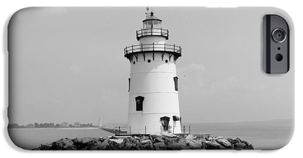 Lighthouse iPhone Cases - Old Saybrook Connecticut Lighthouse iPhone Case by Edward Fielding
