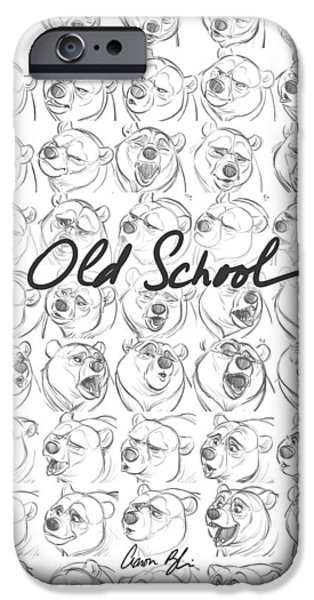 Animation iPhone Cases - Old School iPhone Case by Aaron Blaise