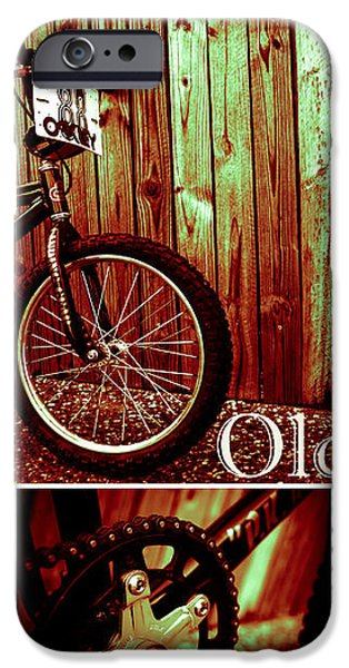 Old School BMX - PK Collage Colour iPhone Case by Jamian Stayt