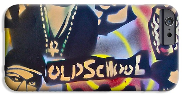 Conscious Paintings iPhone Cases - Old School Hip Hop 3 iPhone Case by Tony B Conscious