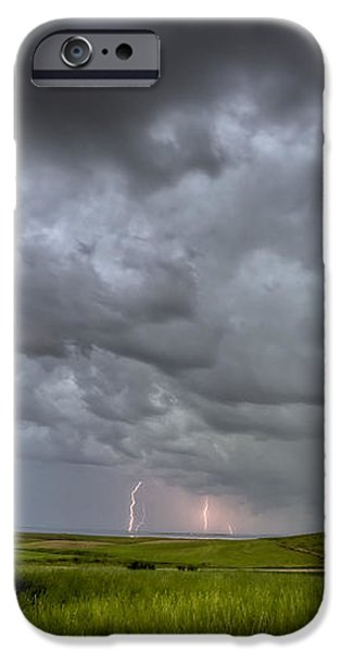 Old School House and Lightning iPhone Case by Mark Duffy