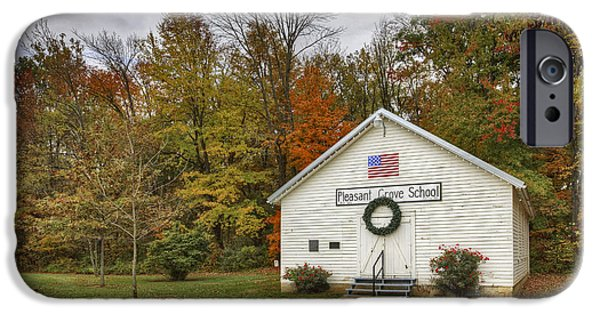 Daviess County Photographs iPhone Cases - Old School House at Panther Creek iPhone Case by Wendell Thompson