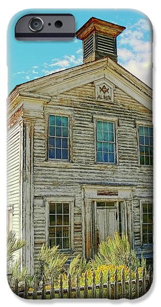 Old School House iPhone Cases - Old School House Bannack Ghost Town Montana iPhone Case by Jennie Marie Schell
