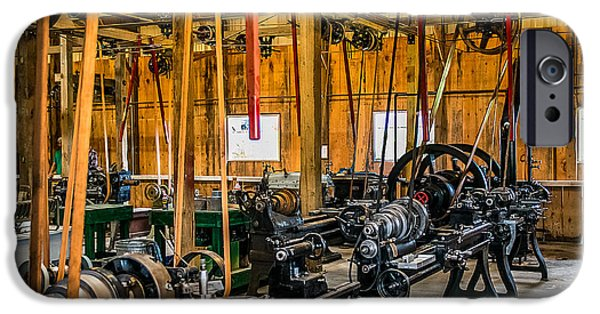 Machinery iPhone Cases - Old School Machine Shop iPhone Case by Paul Freidlund