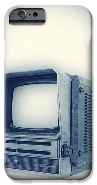 Electronics iPhone Cases - Old School Television iPhone Case by Edward Fielding