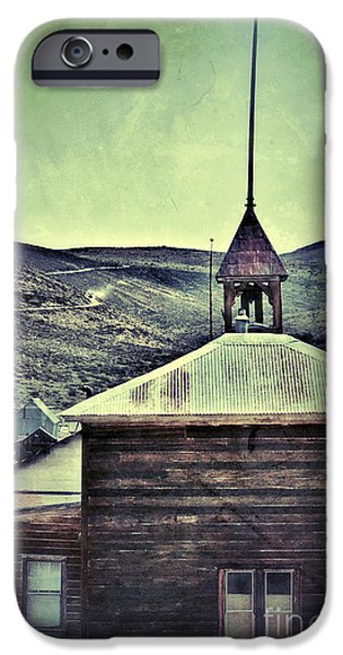 Haunted Schools iPhone Cases - Old Schoolhouse iPhone Case by Jill Battaglia