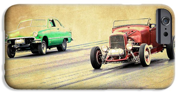 Model iPhone Cases - Old Scool Racing iPhone Case by Steve McKinzie