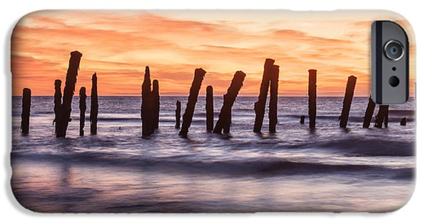 Copy iPhone Cases - Old Sea Defences Spurn Point Yorkshire iPhone Case by Colin and Linda McKie