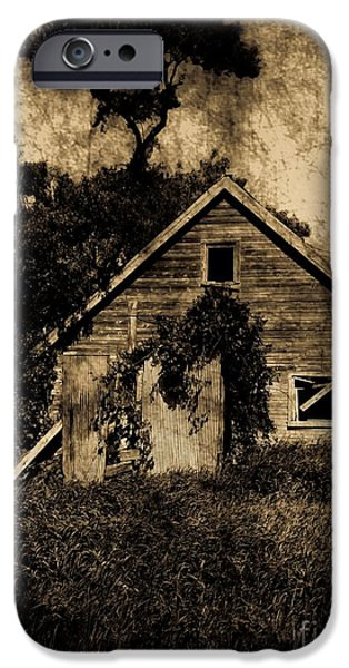 Eerie iPhone Cases - Old Shack iPhone Case by Jamie Holbrook