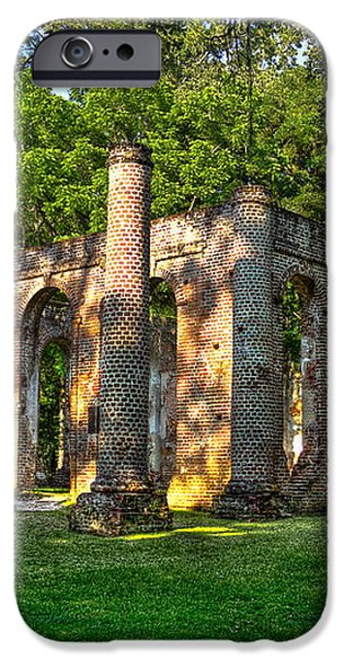 Old Sheldon Church Ruins in South Carolina iPhone Case by Reid Callaway