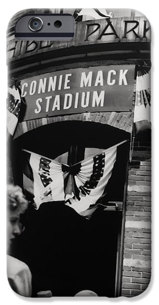 Old Shibe Park - Connie Mack Stadium iPhone Case by Bill Cannon