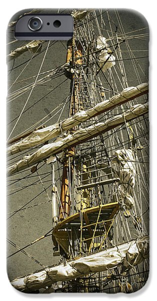 Texture iPhone Cases - Old ship iPhone Case by Carlos Caetano