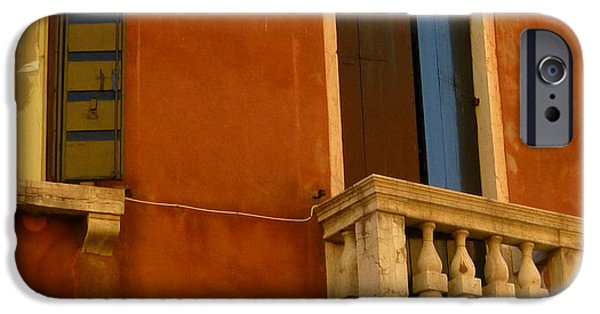 Sienna iPhone Cases - Venetian Old Sienna Walls  iPhone Case by Connie Handscomb