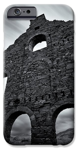 Ruins iPhone Cases - Old Slate Mill iPhone Case by Dave Bowman