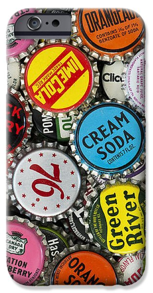 Old Soda Caps  iPhone Case by Tim Gainey