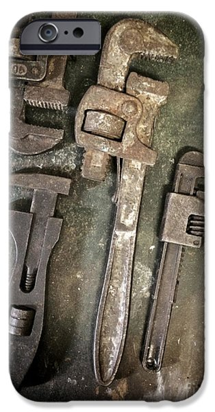 Thread iPhone Cases - Old Spanners iPhone Case by Carlos Caetano