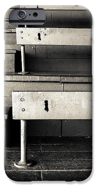 Old Stadium Bleachers iPhone Case by Diane Diederich