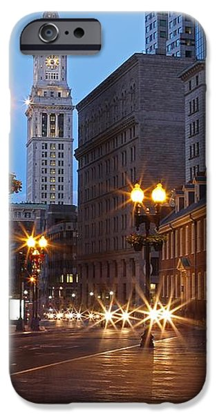 Old State House and Custom House in Boston iPhone Case by Juergen Roth