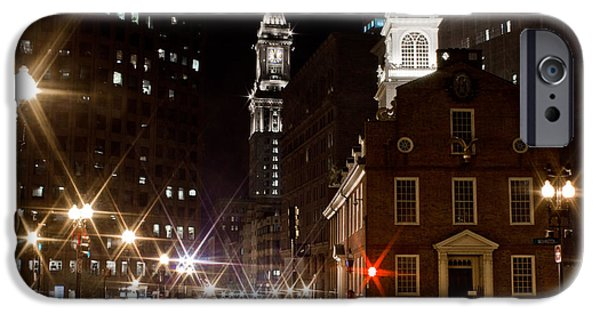 City. Boston iPhone Cases - Old State House in Boston iPhone Case by John McGraw